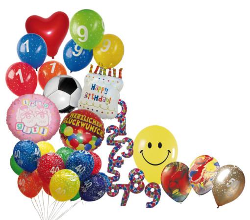 Herzballon, Zeppelinballon, Zahlenballon, Heliumballon